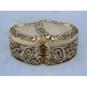 Gold Double Heart Jewelry Box