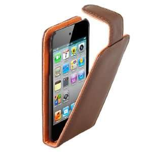 Brand new brown apple ipod touch leather flip case cover