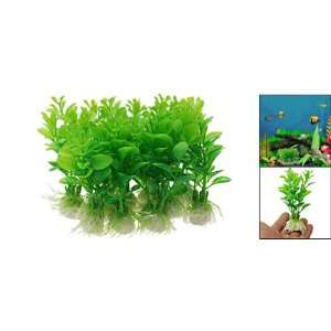 Green Plastic Plants Aquarium Grass Fish Tank Decoration: Pet Supplies