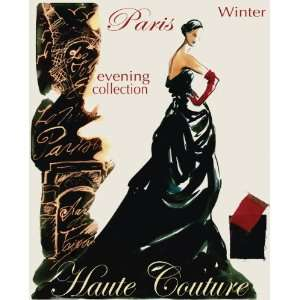 February Fashion Plate by Adriana Fine Art Canvas 16 x 20
