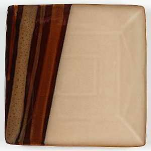 Sango Avanti Brown Square Chop Plate, Fine China Dinnerware