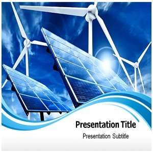 Non Conventional Energy PowerPoint Template   Backgrounds