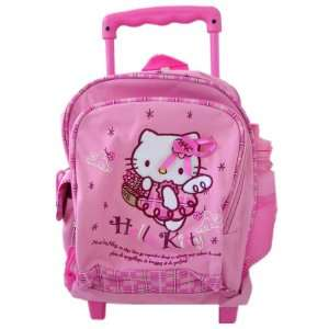 Hello Kitty Full size Rolling Backpack  Kitty Angel Toys & Games