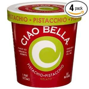 Ciao Bella Pistachio Gelato, 16 Ounce Cups (Pack of 4)