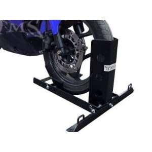 Motorcycle Trailer Adjustable Wheel Chock Bike Stand Mount: Automotive