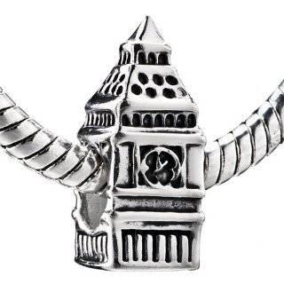 Sterling Silver London Big Ben Clock Beads Fits Pandora Charm Bracelet