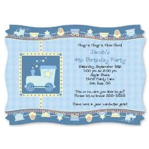 Train   Personalized Birthday Party Invitations With