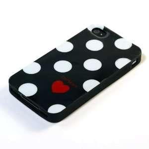 Black and White / Polka Dot Pattern Plastic Case For Apple