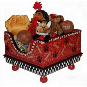 Red Bones Hand Painted Toy Box Everything Else