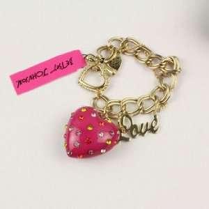 Betsey Johnson Love Colour Rhinestone Love Bracelet