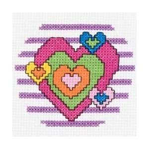 Bucilla My 1st Stitch Heart Mini Counted Cross Stitch Kit