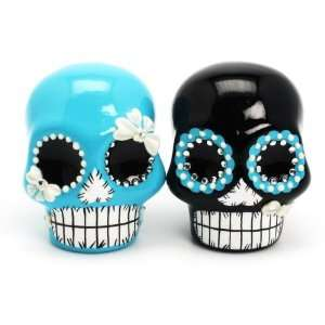 and Black Dia De Los Muertos Day of Dead Skull Wedding Cake Toppers