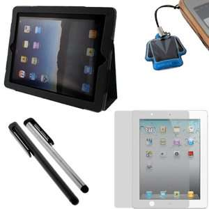 GTMax Black Premium Leather Case Folio with Built in Stand