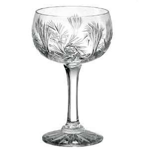Crystal Champagne Saucer Glasses   Set of 4 Pinwheel
