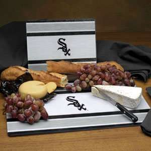 Chicago White Sox Glass Cutting Board Set Sports