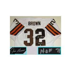 , Cleveland Browns NFL Authentic Autographed White Throwback Jersey