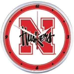 Nebraska Huskers NCAA Round Wall Clock