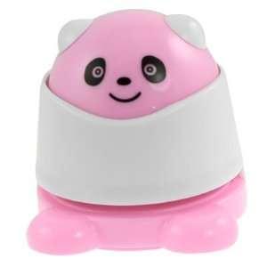 Amico Cute Pink White Plastic Panda Shape Stapless Stapler