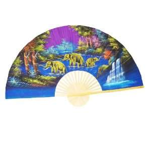 Hand Painted Fan J F 3 35 Home & Kitchen