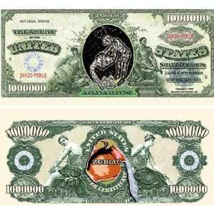 Set of 10 Bills Aquarius Million Dollar Bill: Toys & Games