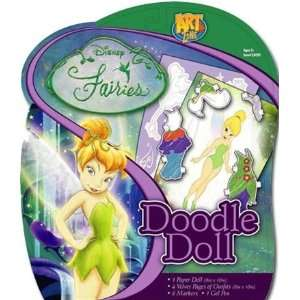 Disney Fairies Tinker Bell Paper Dolls Doodle Kit Toys & Games