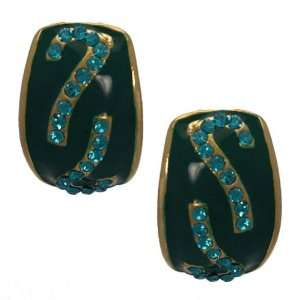 Lawrencia Gold Green Crystal Clip On earrings Jewelry