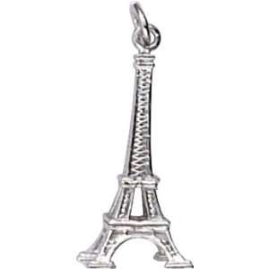 Rembrandt Charms Eiffel Tower Charm, 14K White Gold Jewelry