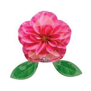 Pink Flower Shaped 14 Air Filled Cup & Stick Included