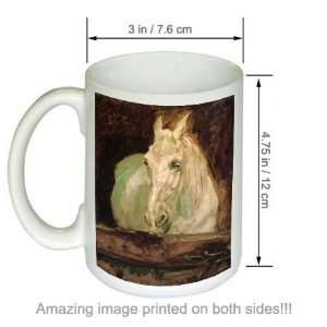 Lautrec Art COFFEE MUG Le Cheval Blanc Gazelle Kitchen & Dining