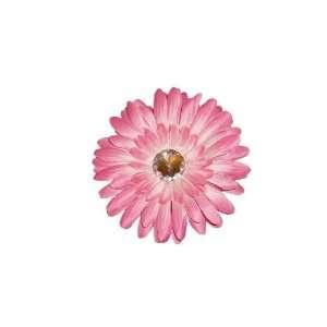 Pink Girls Crystal Gerbera Daisy Hair Clips, Flower Clip Beauty