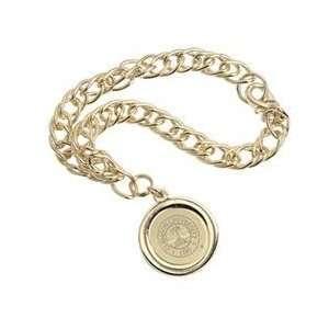 Clemson   Charm Bracelet   Gold