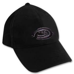Halo 3 Logo Black Flex Fitted Cap Hat