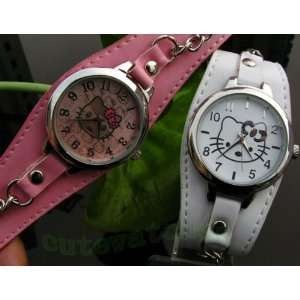 Hello Kitty Leather Wrist Watch (Choice of One