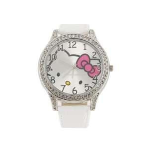 Hello Kitty Quartz Electronic Waterproof Girls Kids White Watch