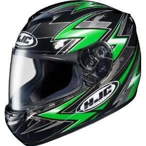 HJC CS R2 Thunder Full Face Motorcycle Helmet MC 4 Green Large L 0812