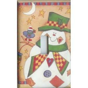 Christmas Crafty Snowman Single Switchplate Light Cover