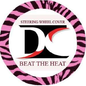 Black and hot pink zebra steering wheel cover Automotive
