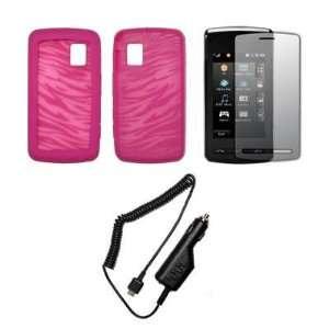 Transparent Pink and Hot Pink Zebra Stripes Design Soft