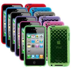 Purple + Hot Pink + Green + Red) for Apple iPod Touch 4th Generation