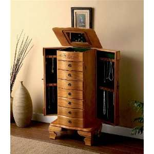 Deluxe Traditional Jewelry Armoire Chest With Jewelry
