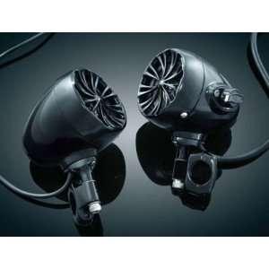 of Chrome Handlebar Speakers  Gloss Black 1 by Kuryakyn. Kuryakyn 832