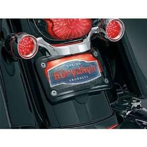 Kuryakyn 3147 Gloss Black Curved License Plate Frame For Harley