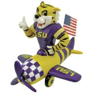 NCAA Mascot Airplane Ornament   LSU Tigers Case Pack 6