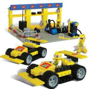 Best Lock 300 Piece Yellow Racing Car Toys & Games