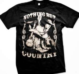 , Cowboy Boots, Hat and Guitar Mens Country Western Shirts: Clothing