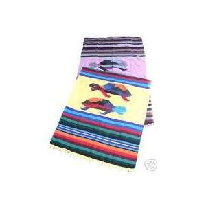 Colorful Mexican TURTLE design Blanket throw rug