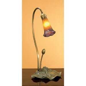 Meyda Tiffany 12460 1 Light Lily, Amber/Purple: Home