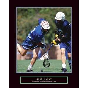 Drive: Lacrosse Motivational Lacrosse Poster Print: Home & Kitchen