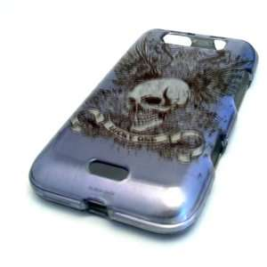 LG Connect 4G MS840 Blue Wing Skull Lucky One Gloss Smooth
