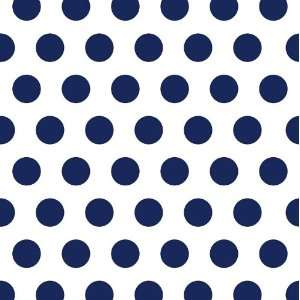 Cocktail Size Paper Napkin,Polka Dots Navy: Kitchen & Dining